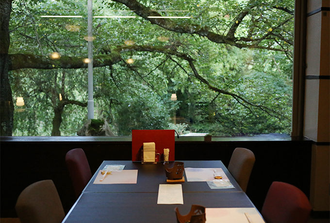 奥琵琶湖レイクシアの1番の自慢はレストラン「スワン」の会席料理!